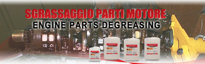 engine parts degreasing